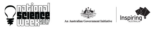National Science Week 2017, Australian Government Initiative and Inspiring Australia logos