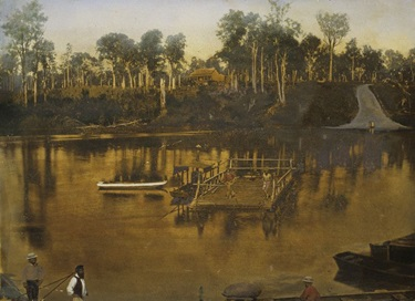 """Mary River Ferry, Maryborough"", by Richard Daintree"